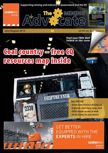 THE MINING ADVOCATE JULY/ AUGUST 2013 FRONT COVER