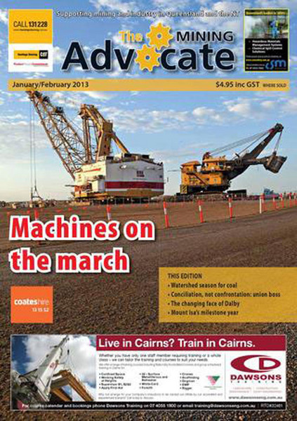 THE MINING ADVOCATE JAN/FEB 2013 FRONT COVER
